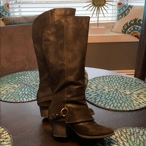 Beautiful black boots Wide Calf size 9